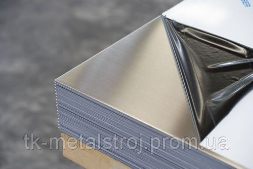Лист из нержавеющей стали 0,5х1000х2000 AISI 430 (12Х17) поверхность ВА-PVC