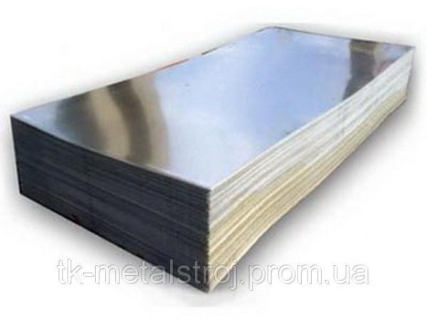 Лист из нержавеющей стали 0,8х1250х2500 AISI 430 (12Х17) поверхность ВА-PVC
