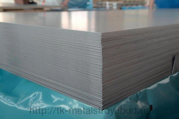 Лист нержавеющий AISI 304 поверхность 2В 0,55*1000*2000 мм
