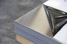 лист нержавеющий технический AISI 430 12Х17 0,8мм 0,8х1000х2000мм зеркальный в плёнке