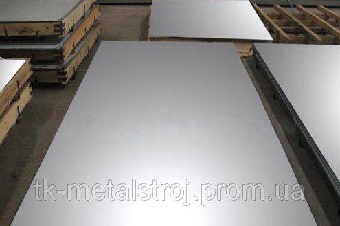 Лист нержавіючий 0,8 х1000х2000 AISI 304 (08Х18Н10 ) поверхня BA- PVC