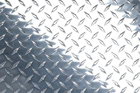 Лист рифленка 2мм алюминий АДОН2
