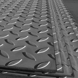 Лист стальной рифленый 4 мм