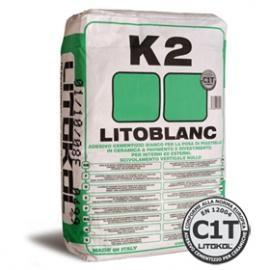 Литобланк К2, клей для мозаики, экстра белый, 25 кг. Италия. Клей для облицовки бассейна.