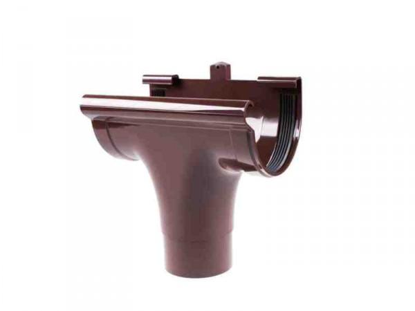 Ливнеприемник проходной водосточной системы PROFIL 90/75;коричневый, белый;диаметр 75 мм