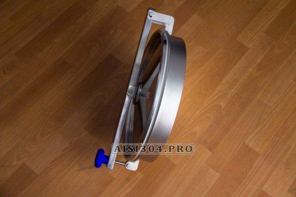 Фото 3 Люк круглий з нержавіючої сталі 400 мм 6023 під тиск 323338