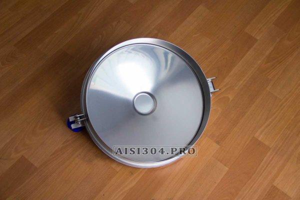 Фото 4 Люк круглий з нержавіючої сталі 400 мм 6023 під тиск 323338