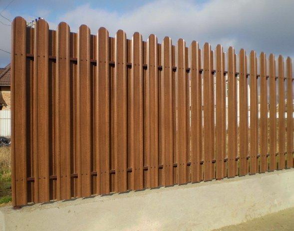 Фото 4 Евроштакетный металлический забор 321354