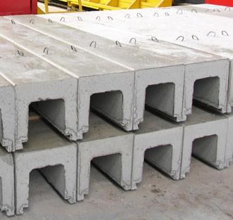 Лоток водоотводный железобетонный Л5-8 : (3000х780х680);