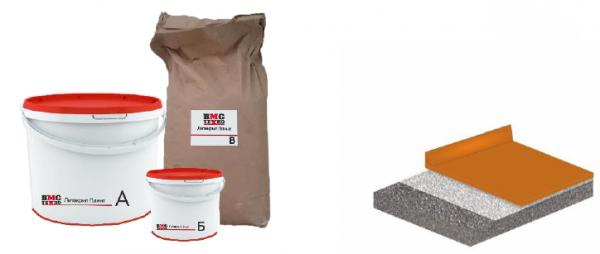 Литакрил Плинт. 3-К высоконаполненная полиуретан-цементная композиция для устройства плинтуса.