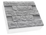 Фото  1 Термопанель ПСБ-С-35 30мм Луганский камень 500х500, белый цемент, с доб.елем. 1923548