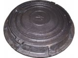 Фото  1 Люк чугунный канализационный легкий тип Л-Д с замком А15 1941862