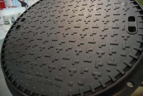 Люк чугунный канализационный сверхтяжелый размер 785/610/160 материал высокопрочный чугун