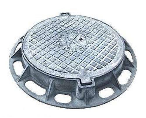 Люк чугунный канализационный тяжелый размер 785/605/120 материал высокопрочный чугун