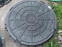 Люк канализационный полимерный садовый чёрный, выдерживает нагрузку до 1,5т. Оптовым покупателям СКИДКИ!