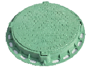 Люк канализационный полимерный садовый зелёный, выдерживает нагрузку 1,5т. Оптовым покупателям СКИДКИ!