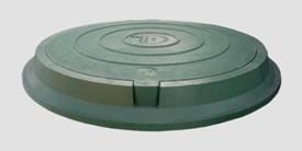 Люк канализационный полимерпесчаный легкий зеленый А15.