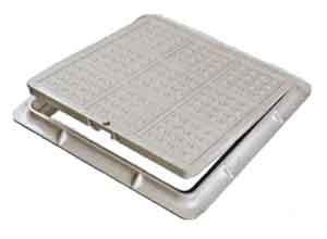 Люк композитный канализационный ЛМ (А15) 480 480Вес комплекта:12,5кг, Размеры:крышка-485х4 85 мм, корпус-562х562 мм,
