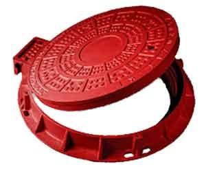 Люк композитный канализационный Т (С250)Размеры:крышки -640мм, корпуса-815 х 775мм, нагрузку 25т