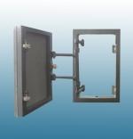 Люк ревизионный невидимка под плитку 400 на 400 модификация люков с фронтальным открыванием.