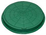 Фото  1 Люк садовый пластмассовый легкий (зеленый) 1941835