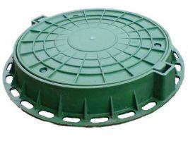 Люк садовый с замками зеленый