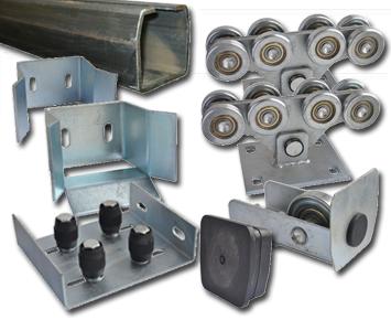 комплект №3 Малый металл. фурнитура для консольных сдвижных ворот с планируемой массой до 400 кг