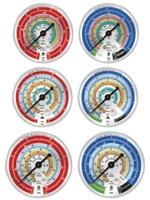 Манометр MBL Mastercool LP R134, 404, 22 80мм (USA)