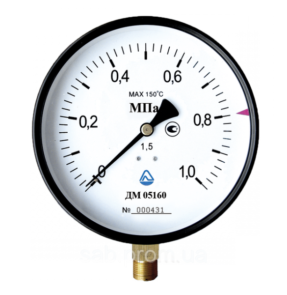 Манометр общего назначения 0-0,4 мПа (100мм) кл 1,5 G1/2 (радиальный)