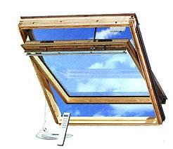 Мансардные окна Velux INTEGRA GGL/GGU. Дистанционное управление окном, имеет датчик дождя.