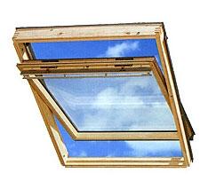 Мансардное окно Velux GGL. Открывание по центральной оси.