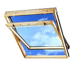 Мансардное окно Velux GZL. Оснащена вентиляционным устройством со щелевым проветриванием.