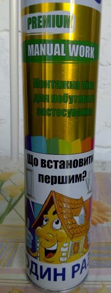 Монтажная пена ручная PREMIUM MANUAL (750 мл.)