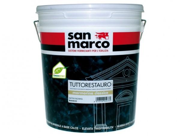 Marmorino classico (Италия) Минеральное декоративное покрытие «под мрамор» с кварцевым зерном 0,7мм. 1-1,4кг/м2