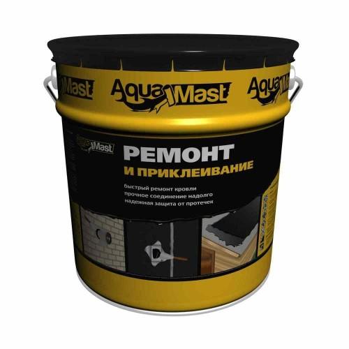 Мастика битумная для ремонта кровли AquaMast; 18 кг/20 л.