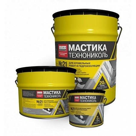 Мастика битумно-полимерная ТехноНИКОЛЬ №21 ТЕХНОМАСТ ; 3 кг.