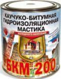 МАСТИКА ГИДРОИЗОЛЯЦИОННАЯ, каучуко-битумная БКМ-200 2л