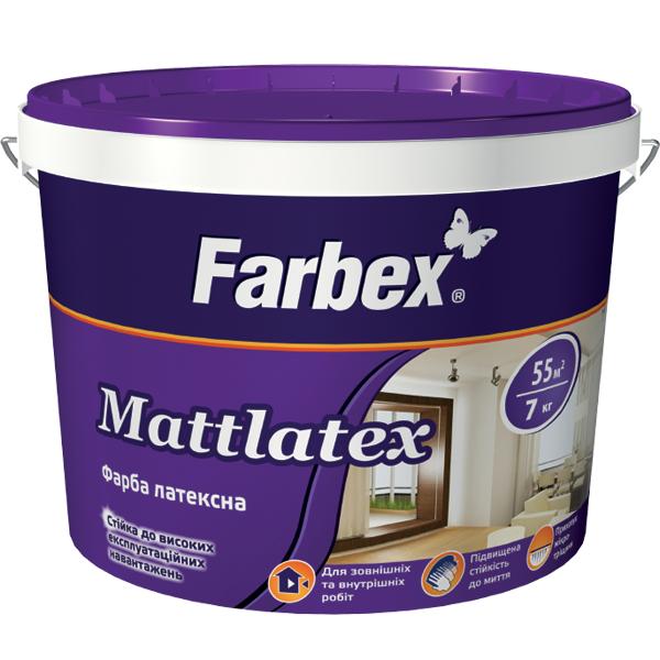 Краска латексная Mattlatex TM Farbex
