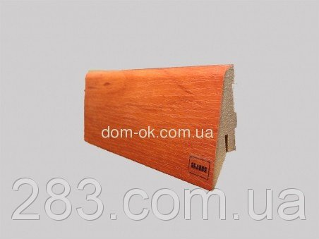 Фото  1 МДФ плинтус Супер профиль, цвет Яблоня -высота на выбор 55 мм. 2162624