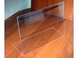 Фото  1 Менюхолдер тейбл тент А4 L-образный горизонтальный Монолитный поликарбонат 2мм прозрачный 2325936