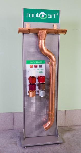 Металлическая водосточная система ROOFART 125/87, сталь-0,6 мм, цинк-275 г/м2, цвета по RAL.