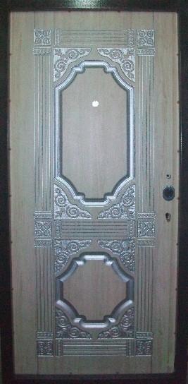 Металлические двери с МДФ патина