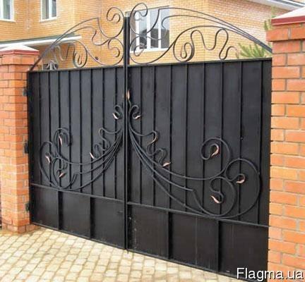 Фото 3 Ворота распашные из профнастила,калитки 332646