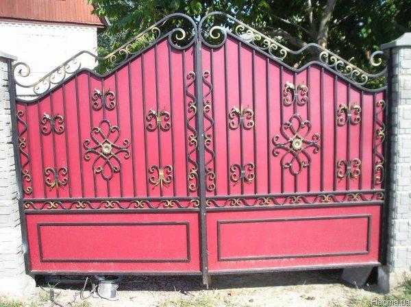 Фото 4 Ворота распашные из профнастила,калитки 332646