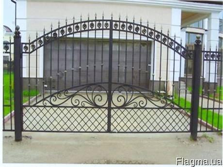 Фото 6 Ворота распашные из профнастила,калитки 332646