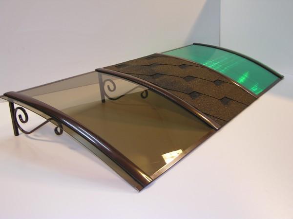 Металлический козырек с поликарбонатом 1000*1500 мм