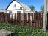 Фото  8 Металлический штакетник полукруглый и трапецевидный RAL 8087 матовый/грунт Европа 0,45 мм 2298883
