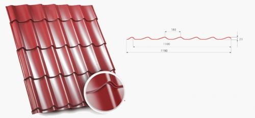 Металлочерепица Arcelor покрытие структурный мат в ассортименте: TOPAZ, DIAMENT, NEFRYT, Opal.