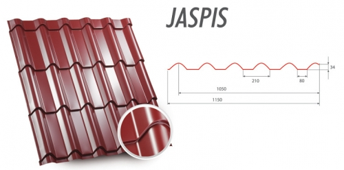 Металлочерепица Jaspis Яспис из европейского металла 0,50мм Все цвета, прокат за 1 день