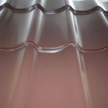Металлочерепица Монтеррей цвет шоколад (8017) 0.5 мм